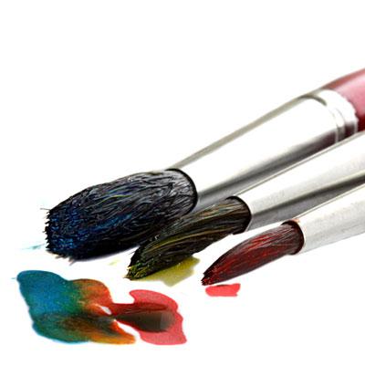Pinsel mit Farbe (c) BirgitH / PIXELIO