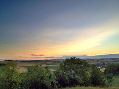 Sonnenuntergang in Simonsfeld