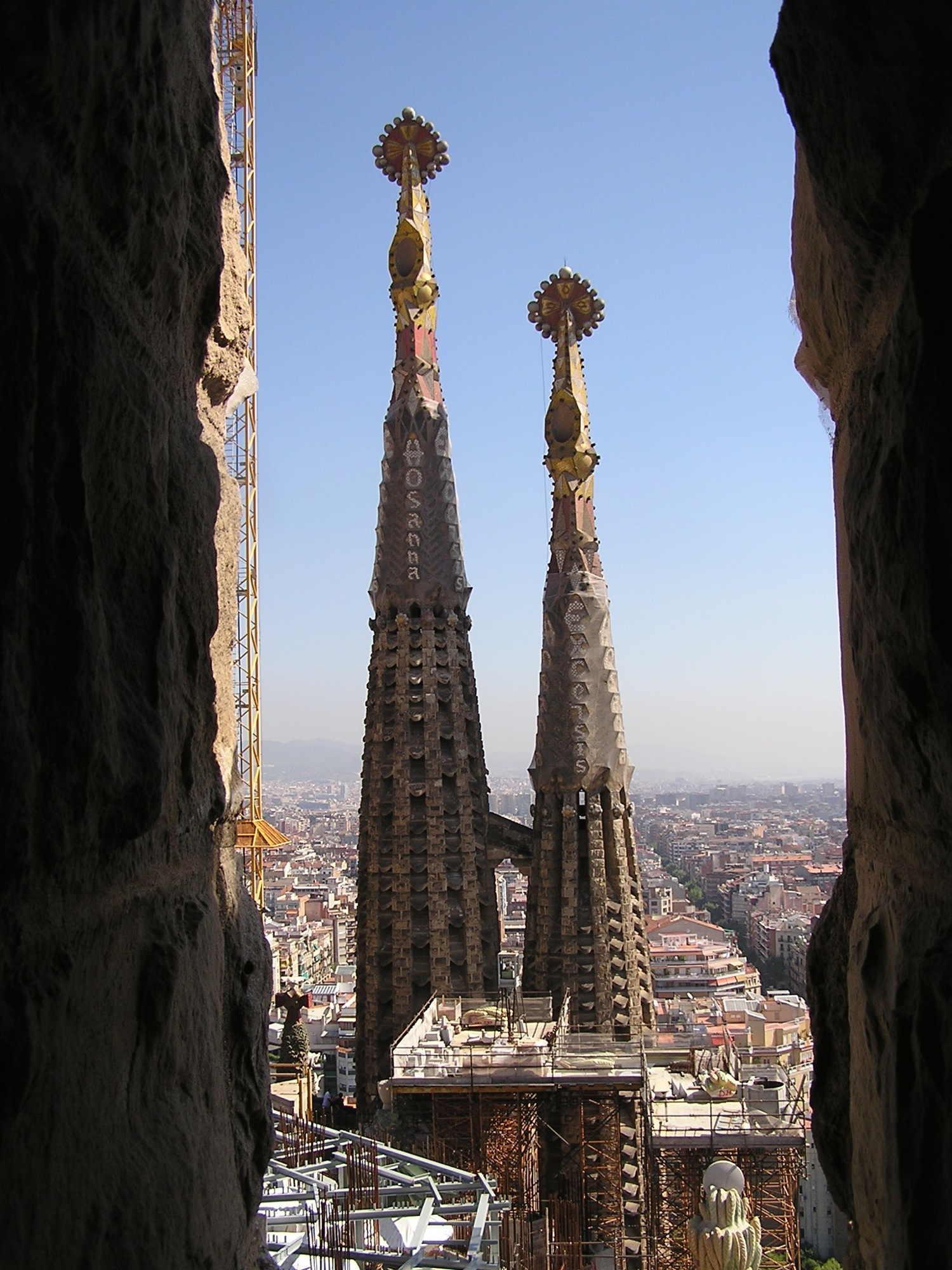 Ausblick auf die Türme der Sagrada Familia, Barcelona